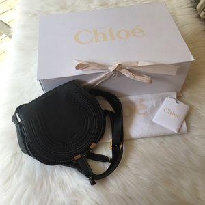 Chloe mini Marcie black leather purse